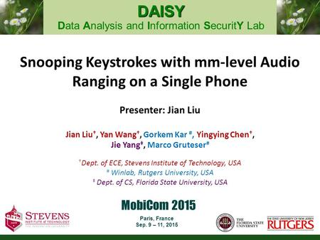 Snooping Keystrokes with mm-level Audio Ranging on a Single Phone
