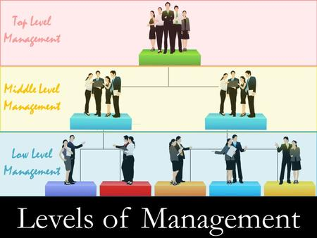 Middle Level Management Top Level Management Low Level Management Levels of Management.