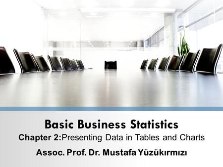 Basic Business Statistics Chapter 2:Presenting Data in Tables and Charts Assoc. Prof. Dr. Mustafa Yüzükırmızı.