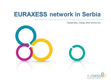 EURAXESS EURAXESS network in Serbia Yesterday, today and tomorrow.