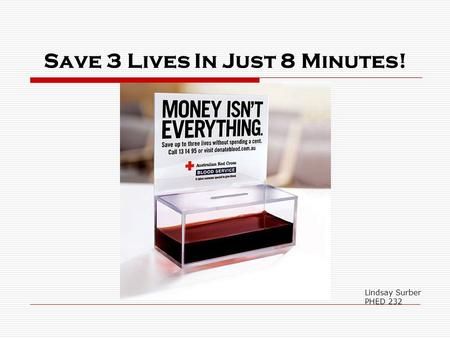 Save 3 Lives In Just 8 Minutes! Lindsay Surber PHED 232.