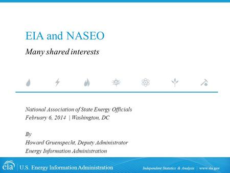 Www.eia.gov U.S. Energy Information Administration Independent Statistics & Analysis EIA and NASEO National Association of State Energy Officials February.