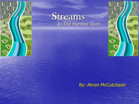 Streams In The Humber River In The Humber River By: Ahren McCutcheon.