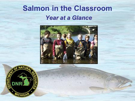 Year at a Glance Salmon in the Classroom Year at a Glance.