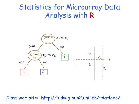 Statistics for Microarray Data Analysis with R Session 8: Discrimination Class web site: