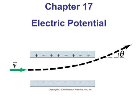 Chapter 17 Electric Potential. Objectives: The students will be able to: Given the dimensions, distance between the plates, and the dielectric constant.