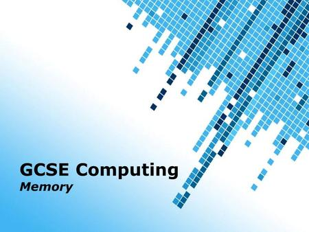 GCSE Computing Memory Powerpoint Templates.