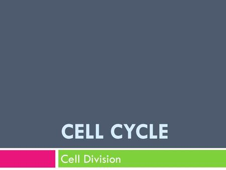 CELL CYCLE Cell Division. cancer  https://science.education.nih.gov/supplements/nih1 /cancer/activities/activity2_animations.htm.