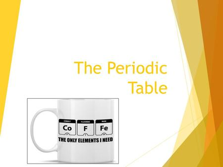 The Periodic Table. I will know….. × What is a periodic table and why is it important. × What are the Parts of the periodic table. × Groups × Periods.