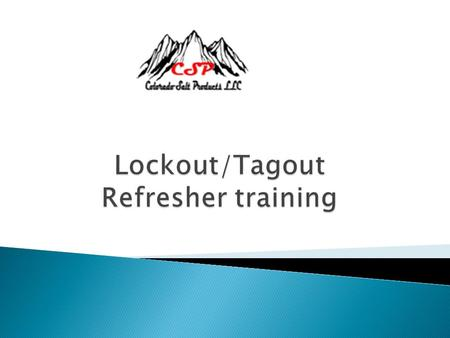  The purpose of this Lockout/Tagout Procedure is to have a positive method of confirming that a piece of equipment, machine, or device is not energized.