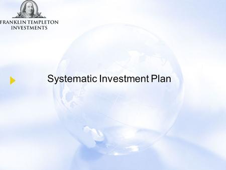 Systematic Investment Plan. I don't have enough money to invest I'm too busy making money to worry about managing it. I don't have the time or expertise.
