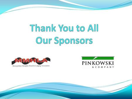 Thank You to Our Sponsors Lunch with the Speakers.