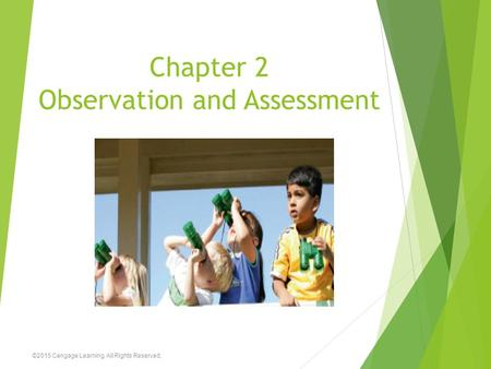 Chapter 2 Observation and Assessment ©2015 Cengage Learning. All Rights Reserved.