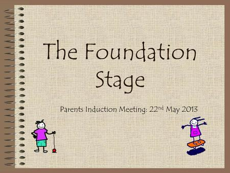 The Foundation Stage Parents Induction Meeting: 22 nd May 2013.