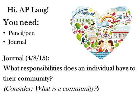 essay on community responsibility
