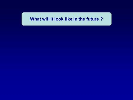 What will it look like in the future ?. Technical solutions.