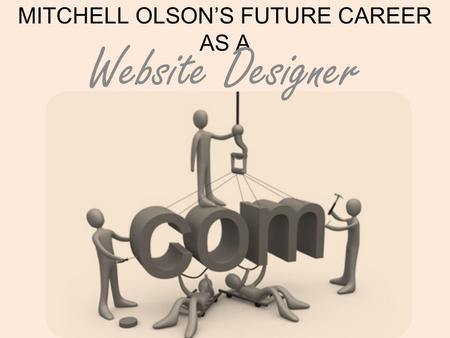 MITCHELL OLSON'S FUTURE CAREER AS A Website Designer.