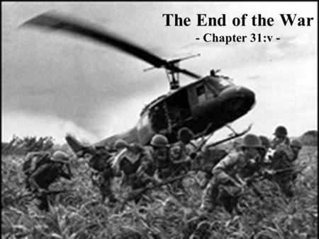 The End of the War - Chapter 31:v -. The Vietnam War created deep divisions within the Democratic Party.