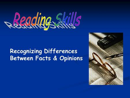 Recognizing Differences Between Facts & Opinions.