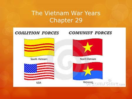 The Vietnam War Years Chapter 29. When Was John F. Kennedy elected to office He was elected in 1960, His term began in 1961.  m/topics/us-