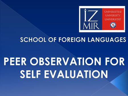 PEER OBSERVATION FOR SELF EVALUATION. o 2008-2012: No formal in-house development opportunity o 2012-2013: Peer observation conducted but no input provided.