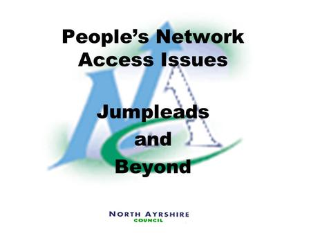 People's Network Access Issues Jumpleads and Beyond.