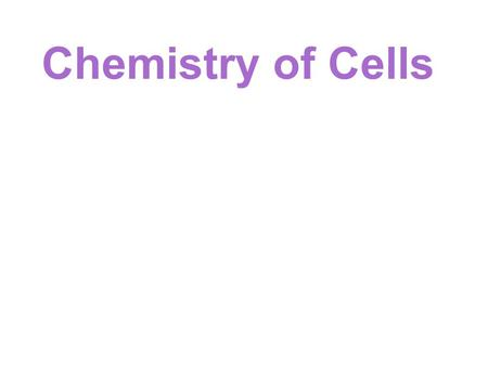 Chemistry of Cells. Has nothing to do with being naturally occurring!!