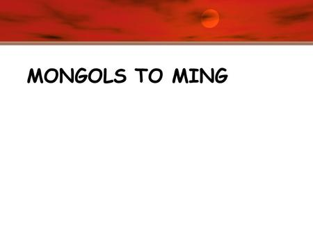 "MONGOLS TO MING. Mongolian Steppes Xinjiang Region – Typical Uygher [Mongol] ""Yurt"""