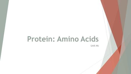 Protein: Amino Acids Unit #6. Learning Targets Proteins  Chemically speaking, proteins are more complex than carbohydrates or lipids, being made of.