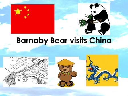 Barnaby Bear visits China. I found a map of China on the computer It is in Asia.