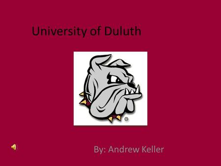 University of Duluth By: Andrew Keller. Contact Info Address – 25 Solon Campus Center 1117 University Drive Duluth, MN 55812-3000 Phone # – (218) 726-7171.
