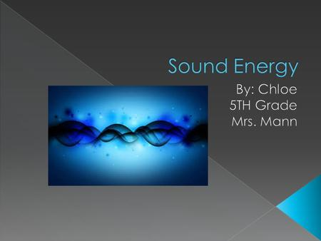 Sound is made by something that can move back and forth. The back and forth motion is a vibration. When vibrations spread through matter, the vibrations.