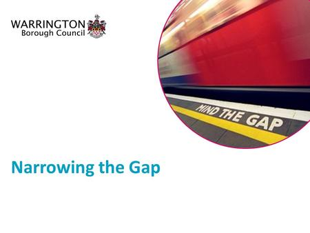 Narrowing the Gap. Ensuring the gap is a priority for all schools Implementing individual pupil target setting Appointed Narrowing the Gap Adviser WBC's.
