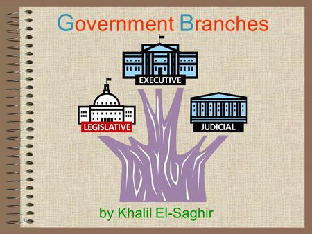 G overnment B ranches by Khalil El-Saghir G overnment B ranches What are they? The government is like a tree with three big branches. The top branch,