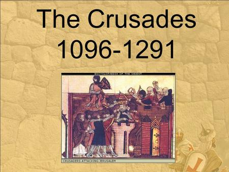 The Crusades 1096-1291. OVERVIEW: Crusades were religious wars between Christians and Muslims Lasted for 200 years Seljuk Turks had the city of Jerusalem.