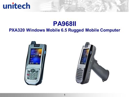 1 PA968II PXA320 Windows Mobile 6.5 Rugged Mobile Computer.