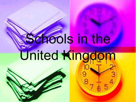 Schools in the United Kingdom. Which school and when? 3-5 yearsNursery (optional) 3-5 yearsNursery (optional) 5-11yearsPrimary School (compulsory) 5-11yearsPrimary.