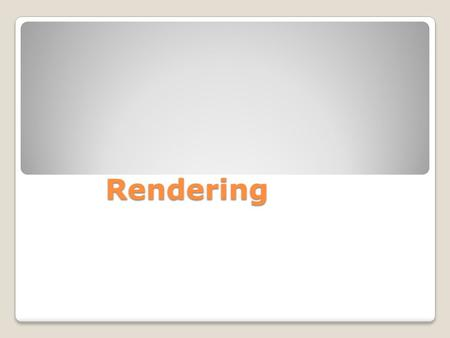 Rendering. Rendering is the process of computing frames of video and sections of audio so that they can be played smoothly in Final Cut Pro. Once rendered,