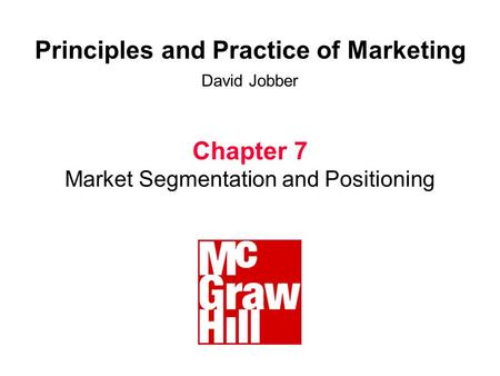 Principles of marketing video case chapter