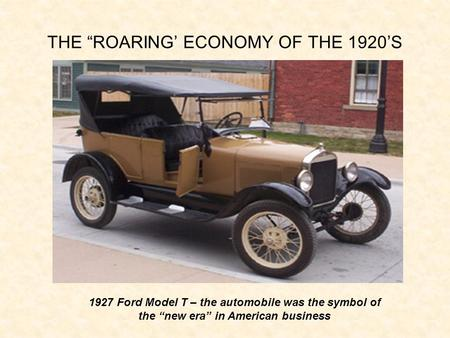 an overview of the socio economic changes in the united states in the roaring twenties 3 source for information on the business of america: the economy in the 1920s: roaring twenties reference library dictionary.