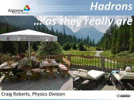 Craig Roberts, Physics Division. Hadron Physics XIII: 22-27 Mar. 2015 (76pp) Craig Roberts: (3) Hadrons... as they really are 2 Valence quarks.