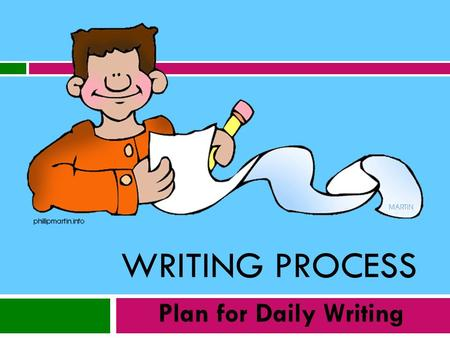 WRITING PROCESS Plan for Daily Writing.  Overview of Writing Process- Sept. 27 th  Math Journaling- Oct. 4 th presenter Dawne Coker  Language Arts.