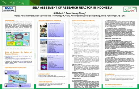 Directorate For Licensing of Nuclear Installation and Material Nuclear Energy Regulatory Agency Introduction At the present Indonesia has no nuclear power.