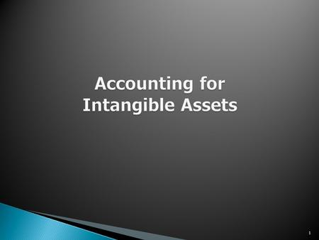 accounting of intangible assets