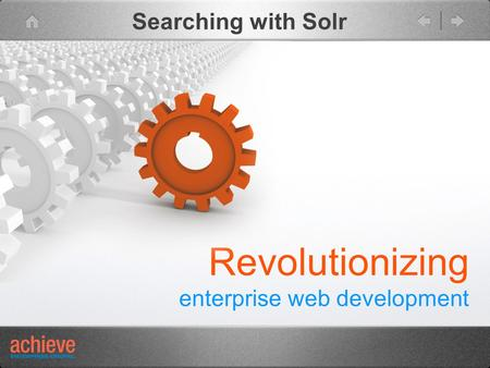 Revolutionizing enterprise web development Searching with Solr.