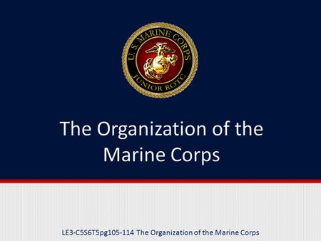 The Organization of the Marine Corps