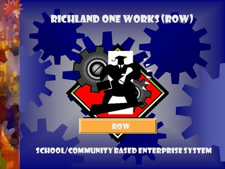 Richland One Works (ROW) ROW School/Community Based Enterprise System.