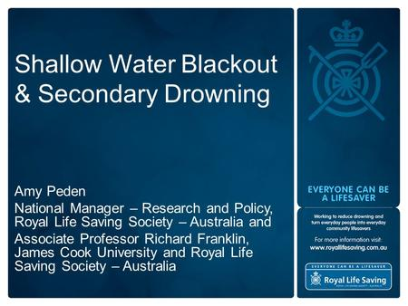 Shallow Water Blackout & Secondary Drowning