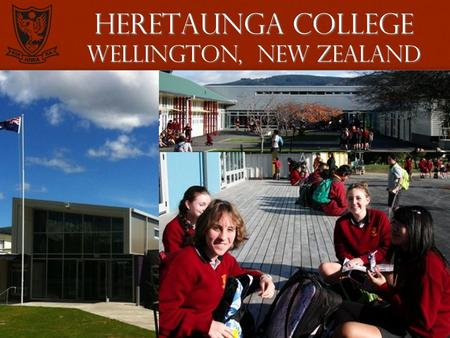 1 Heretaunga college Wellington, New Zealand. 2 Heretaunga college The beautiful Hutt Valley with Wellington in the distance.