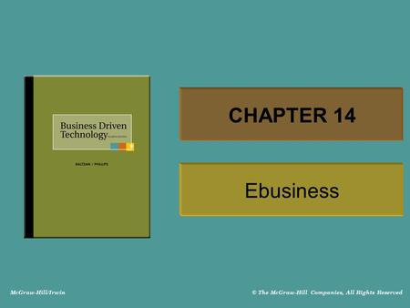 CHAPTER 14 Ebusiness.
